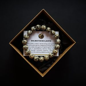 Dalmatininio jaspio apyrankė dvi-jewelry apyrankės