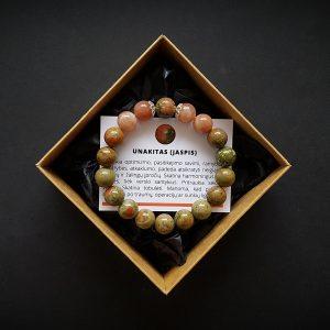 Unakito ir saulės akmens apyrankė dvi-jewelry apyrankės
