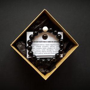 Vaivorykštinio obsidiano ir baltojo koralo apyrankė dvi-jewelry apyrankės