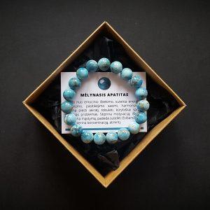 Mėlynojo apatito apyrankė dvi-jewelry apyrankės
