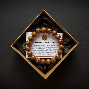 Dramblio odos jaspio (kaligrafo akmens) apyrankė