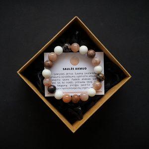 Rodonito, saulės akmens ir žadeito apyrankė dvi-jewelry apyrankės