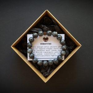 Hematito ir larvikito apyrankė dvi-jewelry apyrankės