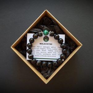 Malachito ir onikso apyrankė dvi-jewelry apyrankės