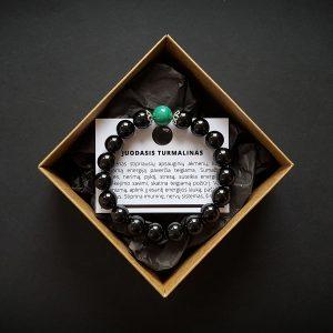 Malachito ir juodojo turmalino apyranke dvi-jewelry apyrankės