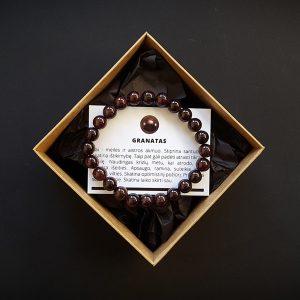 Granato apyrankė 8 mm dvi-jewelry apyrankės