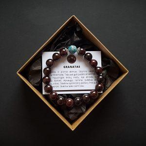 Granato ir mėlynojo apatito apyrankė dvi-jewelry apyrankės