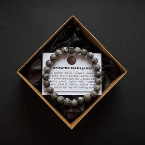 Imperatoriškojo jaspio ir hematito apyrankė dvi-jewelry apyrankės
