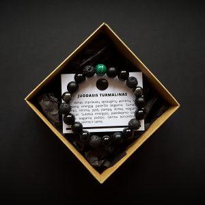Malachito, hematito, juodojo turmalino, lavos ir šungito apyrankė dvi-jewelry apyrankės