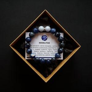 Sodalito ir mėlynojo juostuotojo agato apyrankė