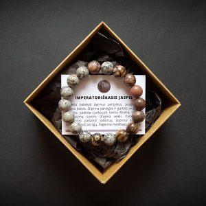 Imperatoriškojo jaspio ir rodonito apyrankė dvi-jewelry apyrankės