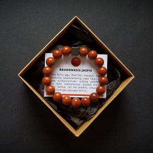 Raudonojo jaspio ir hematito apyrankė dvi-jewelry apyrankės