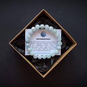 Akvamarino apyrankė 8 mm