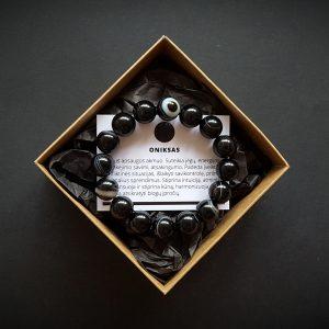 Onikso apyrankė 12 mm dvi-jewelry apyrankės