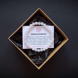 Rožinio kvarco apyrankė 6 mm dvi-jewelry apyrankės